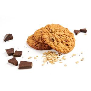 Haverkoek met chocolade